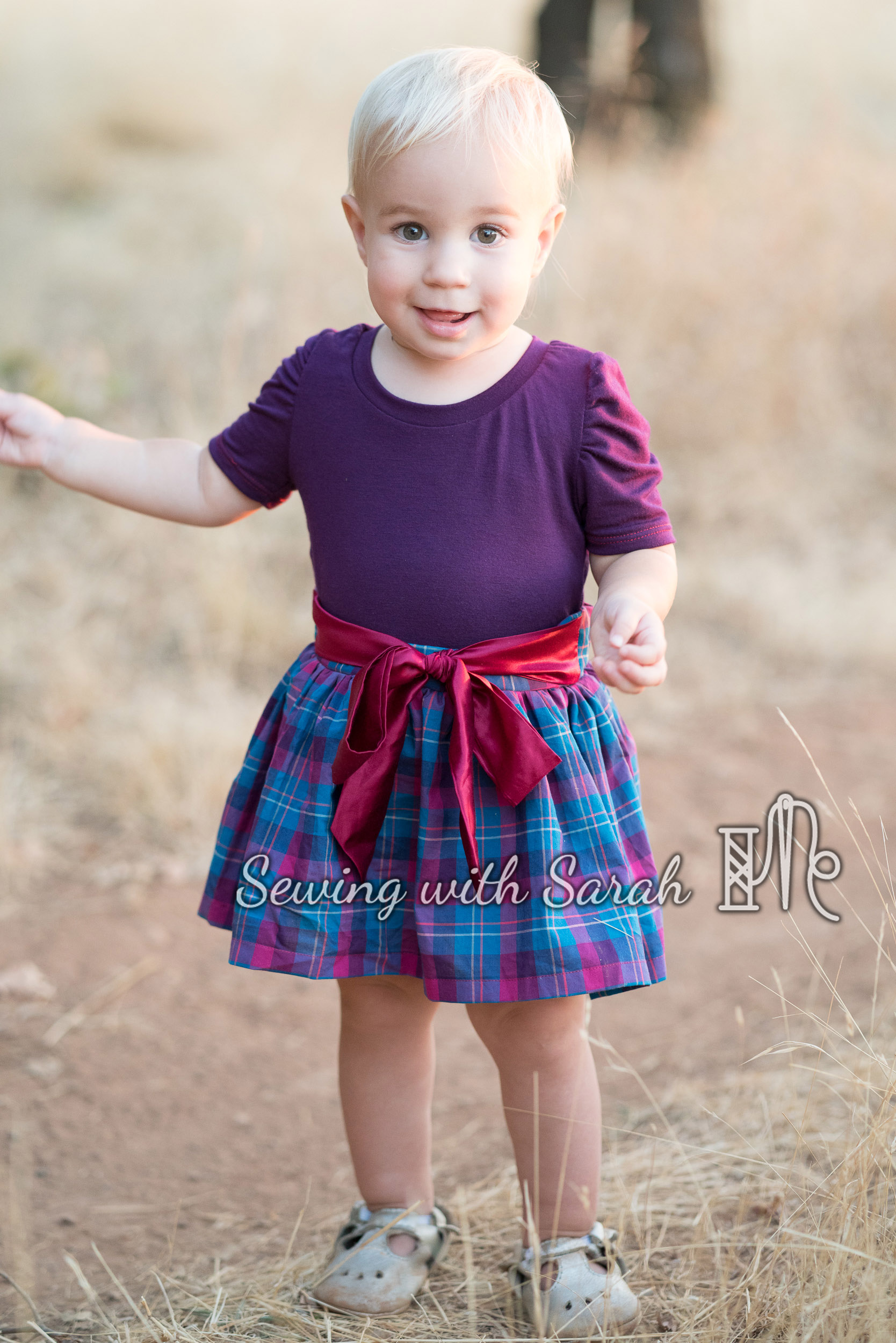 Holiday Dress for Baby – Sewing with Sarah